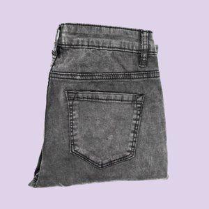 B L A C K  ACID WASH skinny jeans | SIRENS
